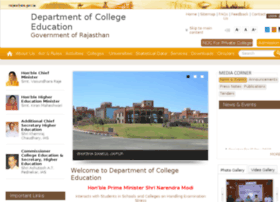 collegeeducation.rajasthan.gov.in